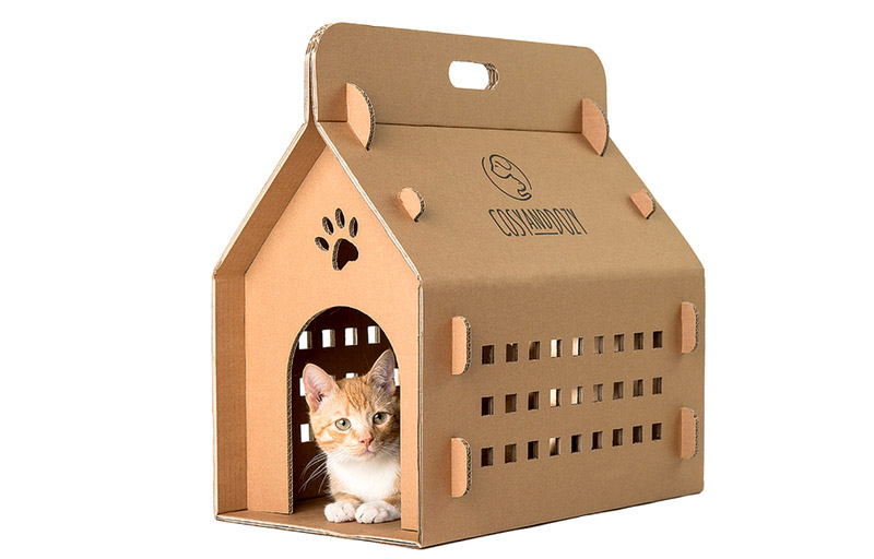 Domek - kontener CATVENTURE -- Eco-carry-box CATVENTURE -- Katzen transport-box CATVENTURE